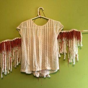 Madewell Tops - madewell silk pleated polk dot blouse